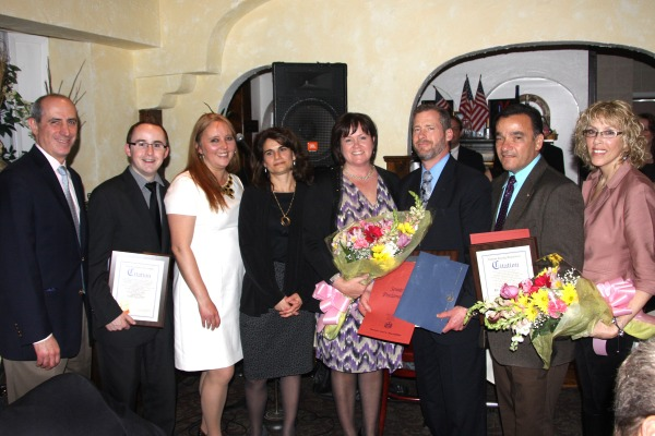 Ralph Suozzi, Kevin Covais, Delia DeRiggi-Whitton, Ellen Savino, Jean and Greg Trunz, Anthony and Kathy Jimenez.