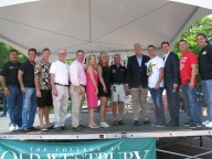 City Councilman Tony Jimenez, Gary Bernstein, Sea Cliff Mayor Bruce Kennedy, DRIF LI Director Tony Childs, county court judge candidate David Levine, county clerk candidate Laura Gillen, Delia DeRiggi-Whitton, Richard Valicenti, comptroller candidate Howard Weitzman, Joe LaPadula, Tom Suozzi, Jon Holzer and Joe Manfredi.