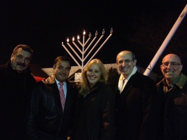 Delia DeRiggi-Whitton Nassau County Legislator Glen Cove menorah