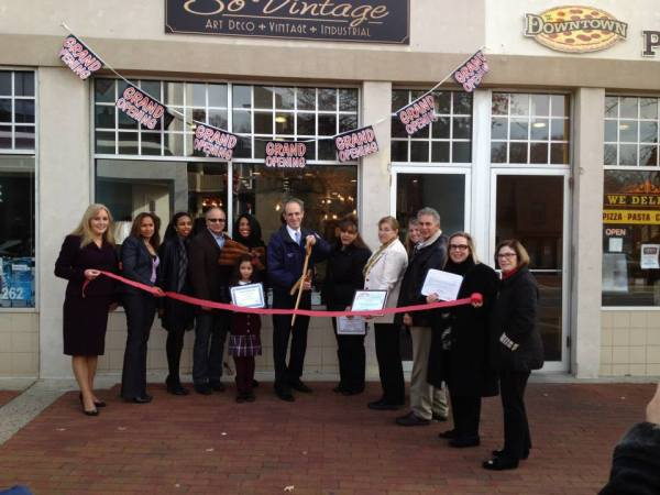 Delia DeRiggi-Whitton Nassau County Legislator So Vintage ribbon cutting
