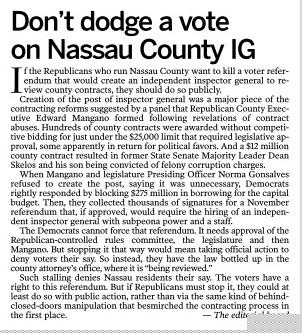 Don't dodge a vote on Nassau County IG.jpg